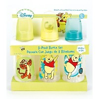 Winnie The Pooh Three Pack Deluxe Baby Bottle Set by Disney