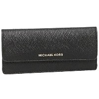 マイケルコース 財布 レディース MICHAEL KORS 32F3GTVE7L 001 JET SET TRAVEL FLAT WALLET SAFFIANO LEATHER 18K 長財布...