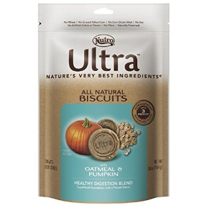 Nutro ULTRA Healthy Digestion Blend All Natural Dog Biscuits With Oatmeal and Pumpkin, 16 oz. by...