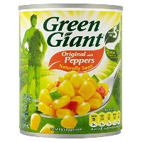 Green Giant Sweetcorn with Peppers (198g) ピーマンと緑の巨人のスイートコーン( 198グラム)