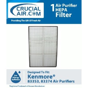 New High Quality HEPA Air Purifier Filter Designed To Fit Kenmore Air Purifier Models 83353 and...