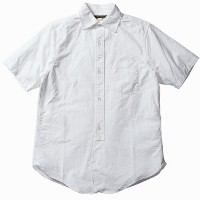 FREEWHEELERS フリーホイーラーズ MAILER SHORT SLEEVE LATE 1800s WIDE SPREAD COLLAR SHIRT WHITE HEAVY OXFORD