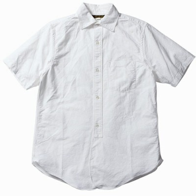 FREEWHEELERS フリーホイーラーズ MAILER SHORT SLEEVE SHIRT LATE 1800s WIDE SPREAD COLLAR SHIRT WHITE HEAVY...