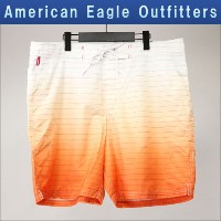【25%OFFセール 3/24 20:00~3/29 1:59】 アメリカンイーグル AMERICAN EAGLE 正規品 メンズ スイムパンツ AE OMBRE STRIPED BOARD...