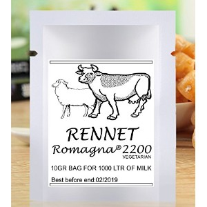 Rennet Romagna 2200顆粒10 gパックfor 1000 Lミルク