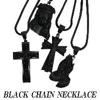 BLACK CHAIN NECKLACE/ブラックチェーンネックレス4TYPE