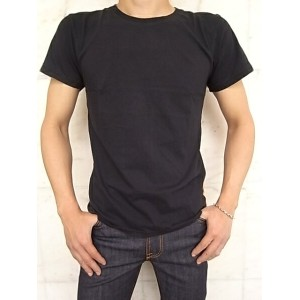 Nudie Jeans(ヌーディー ジーンズ)【BACKBONE】ORGANICROUND NECK T-SHIRT★BLACK★