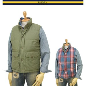 RUGBY by Ralph Lauren Men's Reversible Down Vest ラグビー メンズ ダウンベスト