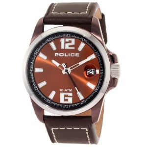 Police ポリス メンズ 腕時計 PL-12591JSBNS/65 Lancer Brown Dial Brown Leather Watch