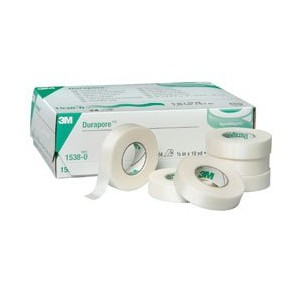 Durapore Surgical Tape, 1/2 (Box of 24 Rolls) by 3M