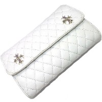 CHROME HEARTS(クロムハーツ)Wave #4 Quilted White/Waveウォレット キルティッドホワイト