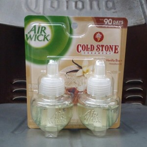 AIR WICK SCENTED OIL 2PACK COLD STONE CREAMERY VANILLA BEAN
