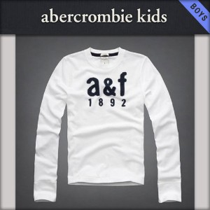 【15%OFFセール 1/19 10:00~1/22 9:59】 アバクロキッズ AbercrombieKids 正規品 子供服 ボーイズ 長袖Tシャツ logo long sleeve...