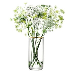 LSA FLOWER CYLINDER BOUQUET ベース H200mmゴールド  箱入り 【花瓶】