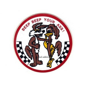 【SALE!!6/21(木)17:00まで】70's VINTAGE Road Runner BEEP BEEP YOUR ASS Sticker(70sビンテージRoad Runner BEEP...