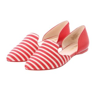 【SALE 50%OFF】NWSHAY オープンパンプス (RED WHITE/RE) レディース