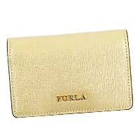 FURLA フルラ名刺入れ PS04 BABYLON S BUSINESS CARD CASE 887560 COLOR GOLD KAKI [並行輸入品]