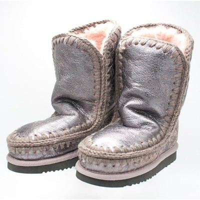 ◇MOU[ムー]メタリックレザーエスキモームートンブーツ7A ESKIMO BOOT 24 CM LIMITED EDITION