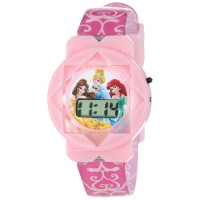 Disney Kids' ディズニー キッズ 腕時計 シンデレラ PRS1113T Backpack and LCD Watch Set