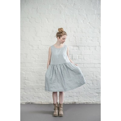 not PERFECT LINEN | LINEN DRESS (washed silver) | ワンピース | レディース UK8/S