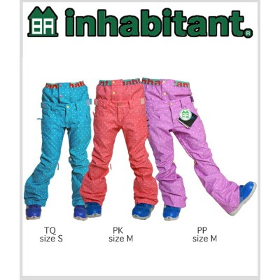 ≪送料無料&即出荷≫13-14 SNOW WEAR 『 INHABITANT 』 GIRLS PANTS 【S/M】 IH382OB52 【smtb-f】【u】【amz】