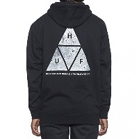 HUF Concrete Triple Triangle Pullover Hoodie Black S パーカー 並行輸入品