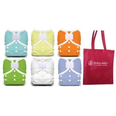 Thirsties Duo Wrap Size 1 Cloth Diaper Cover Gender Neutral Cover with Dainty Baby Reusable Bag...