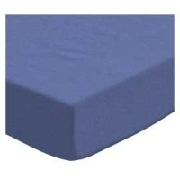 SheetWorld Fitted Pack N Play (Graco Square Playard) Sheet - Flannel - Denim Blue - Made In USA by...