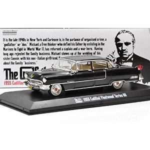 """GREENLIGHT 1:43SCALE HOLLYWOOD """"THE GODFATHER"""" """"1955 CADILLAC FLEETWOOD SERIES 60""""(BLACK) グリーンライト 1..."""