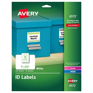 Permanent ID Laser Labels, 2 x 2-5/8, White, 225/Pack (並行輸入品)