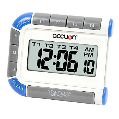 Accuon Digital 4 Channel Timer and Clock by Accuon