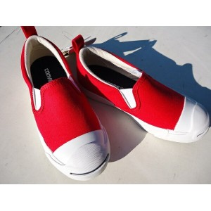 ★CONVERSE KID`S JACK PURCELL SLIP ON 3CJ942 RED 。