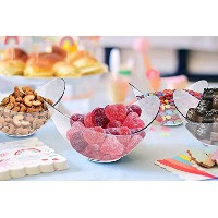 MiniクリアプラスチックパーティーBowls。パックIncludes 96エレガントな、使い捨てCandy Dishes That Are Greatパーティ用