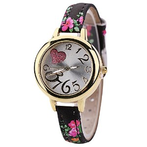 TrentonレディースSweet Heart Watches Large Floral Strapクオーツ腕時計