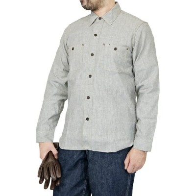 FREEWHEELERS フリーホイーラーズ NEAL SHIRT NEAL CASSADY RAILROAD WHITE PEPPER CHAMBRAY NON-WASH