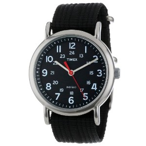 "Timex タイメックス メンズ腕時計 Men's T2N647 ""Weekender"" Watch with Black Nylon Strap"
