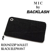 【MIC by BACKLASH/ミック バイ バックラッシュ】ウォレット/限定品 BLMC-WAL5:ROUNDZIP WALLET BLACK ELEPHANT★REAL DEAL