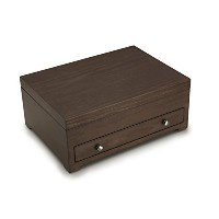 Wallaceアンティーク調木製Flatware Storage Chest with tarnish resistantライニング、14.5-inch