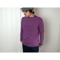 Saint James Ouessant セントジェームス ウェッソン  ボーダー BLUE/CERISE