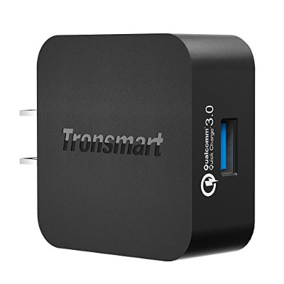 [Qualcomm認証済] Tronsmart Quick Charge 3.0 USB急速充電器 ACアダプター 急速充電 スマホ / タブレット / Android / Galaxy S8 /...