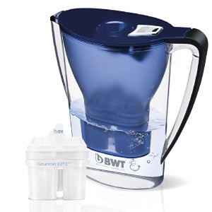 BWT Mineral Water Pitcher with 2Long Life mg2+カートリッジ、2.7-liter、ダークブルー