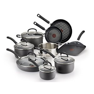 T-fal E765SE Ultimate Hard Anodized Scratch Resistant Titanium Nonstick Thermo-Spot Heat Indicator...
