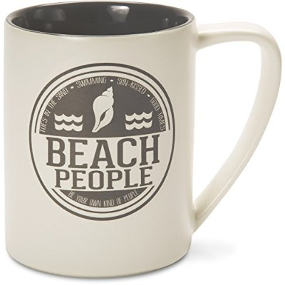 Pavilion Gift Company We People Shell Beach People Mug, 530ml, Grey