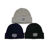 ★SALE 30%OFF★ Deus ex Machina デウスエクスマキナ SHIELD BEANIE ビーニー 3色(Black/Navy/Grey) デウス