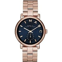 マークバイマークジェイコブス Marc by Marc Jacobs Baker Navy Dial Rose Gold-tone Steel Ladies Watch MBM3330 女性...