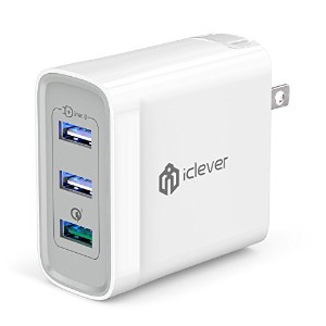iClever USB急速充電器 QC3.0 3ポート 38W USB充電器 海外対応 iPhone Android タブレット スマホ急速充電