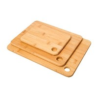 Imperialホーム3 pc竹木材切削Boards – セットof 3 Sturdy Chopping Boards / Carving Boardブロック。ナチュラル、有機&抗菌...