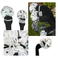 Jan Craig Black White Stripe Headcover Sets【ゴルフ アクセサリー>ヘッドカバー】