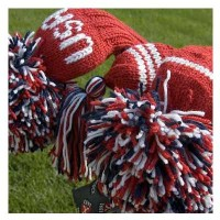 Jan Craig Red White Navy Stripe Headcover Sets w/USA Logo【ゴルフ アクセサリー>ヘッドカバー】
