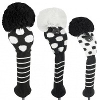 Just 4 Golf Ladies Black and White Dot Headcovers【ゴルフ レディース>ヘッドカバー】